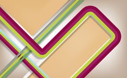 Abstrakte Retro Linien Hintergrund. Lizenzfreies Stockfoto