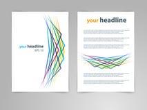 Abstrakter Vektorschablonenplan des geometrischen Designs für Zeitschrift, Broschüre, Flieger, Broschüre, Abdeckung, Jahresberich Lizenzfreie Stockfotos