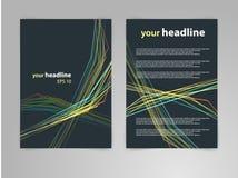 Abstrakter Vektorschablonenplan des geometrischen Designs für Zeitschrift, Broschüre, Flieger, Broschüre, Abdeckung, Jahresberich Stockfotografie