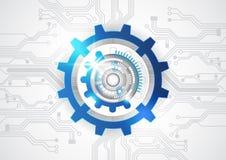 Abstrakter Vektortechnologiehintergrund, Illustration Lizenzfreies Stockbild