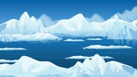Abstrakter Vektorwinterhintergrund mit gefrorenem Schnee, Hintergrund, Tapete vektor abbildung