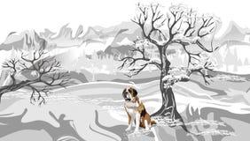 Abstrakter Vektorwinterhintergrund mit gefrorenem Schnee, Hintergrund, Tapete lizenzfreie abbildung