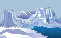 Abstrakter Vektorwinterhintergrund mit gefrorenem Schnee, Hintergrund, Tapete stock abbildung