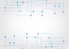 Abstrakter Verbindungstechnologie-Kommunikationshintergrund Illustra Stockbild
