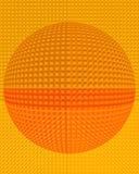 Abstrakter verdrängenblock-Kugel-Hintergrund Stockfoto