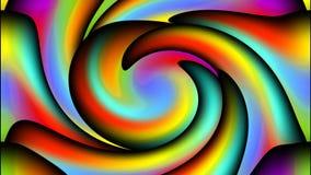 Abstrakter Videohintergrund mit den plasmatischen mehrfarbigen Wellen, von links nach rechts und zurück drehend Animation in klar stock footage