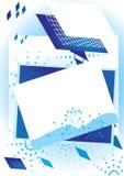 Abstrakter Vierecks-Hintergrund Stockfotografie