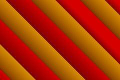 Abstrakter Viereckshintergrund Hintergrund vom Rot und vom Gold vorbei stockbild