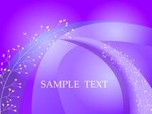 Abstrakter violetter Hintergrund mit mit Blumen und Kreisen für modernes Webdesign des Textes und der Mitteilung vektor abbildung