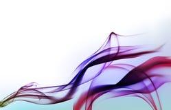 Abstrakter violetter Hintergrund mit Rauche Lizenzfreie Stockbilder