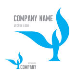 Abstrakter Vogel Logo Sign Vektorlogoschablone 3D übertrug Bild Vektorbild, Abbildung vektor abbildung