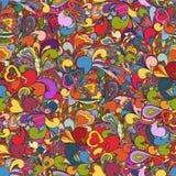 abstrakter von Hand gezeichneter Hintergrund Stockbilder