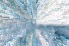 Abstrakter Würfel 3d, zu verdrängen Hintergrund, verdrängte futuristisch lizenzfreie abbildung