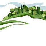 Abstrakter Wald Stockbild