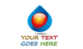 Abstrakter Wasser-Tropfen Logo Template Stockfoto