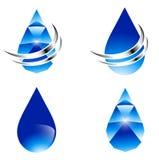 Abstrakter Wasser-Tropfen-Satz vektor abbildung