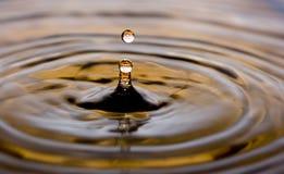 abstrakter Wassertropfen Stockbild