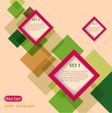 Abstrakter Webdesignvektor Lizenzfreie Stockbilder