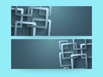 Abstrakter Websitetitel oder Fahnensatz Lizenzfreies Stockfoto