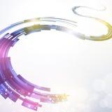 Abstrakter Weg-Technologie-Hintergrund Lizenzfreie Stockfotografie