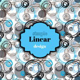 Abstrakter weißer blauer geometrischer Hintergrund Lizenzfreie Stockbilder