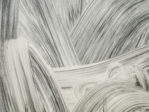 Abstrakter weißer Farbenabstrich stockfotos