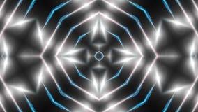 Abstrakter weißer Fractal beleuchtet, Hintergrund der Wiedergabe 3d, der Computer, der Hintergrund erzeugt Stockfoto
