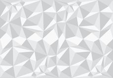Abstrakter weißer Polygonmusterhintergrund-Beschaffenheitsvektor Lizenzfreie Stockbilder