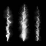 Abstrakter weißer Rauch Stockfotos
