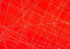 Abstrakter weißer Thread mit Irregular gekreuzten Linien Stockfotografie