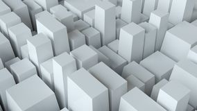 Abstrakter weißer Würfel-Wand-Hintergrund vektor abbildung