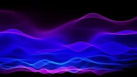 Abstrakter weicher Wellenhintergrund, blauer Wellenbewegungsfluß stock video