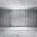 Abstrakter weißer Innenraum des leeren konkreten Raumes Stockfotos