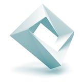 Abstrakter weißer Logo Square Shape Oblect Stockfotos