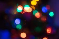Abstrakter Weihnachten-bokeh Lichthintergrund Lizenzfreies Stockfoto
