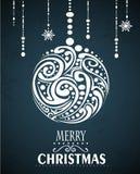 Abstrakter Weihnachtsball Lizenzfreie Stockfotografie
