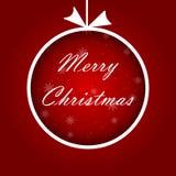 Abstrakter Weihnachtsball cutted vom Papier auf rotem Hintergrund Abbildung des Vektor eps10 stock abbildung