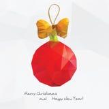 Abstrakter Weihnachtsball mit Lizenzfreie Stockfotos