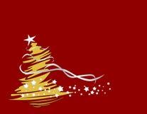 Abstrakter Weihnachtsbaum Stockfoto