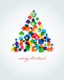 Abstrakter Weihnachtsbaum. Lizenzfreies Stockfoto