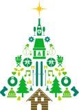 Abstrakter Weihnachtsbaum Lizenzfreies Stockbild
