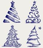 Abstrakter Weihnachtsbaum Stockbild