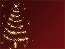 Abstrakter Weihnachtsbaum Stockfotografie