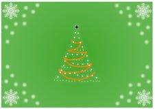 Abstrakter Weihnachtsbaum auf grünem Hintergrund Lizenzfreies Stockbild