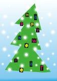 Abstrakter Weihnachtsbaum der Schönheit. stock abbildung