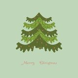 Abstrakter Weihnachtsbaum des Vektors Lizenzfreie Stockfotos
