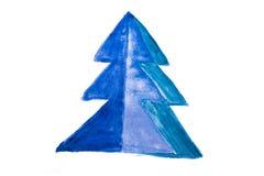 Abstrakter Weihnachtsbaum handgemacht Stockbild