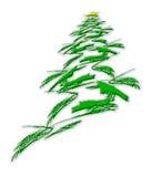 Abstrakter Weihnachtsbaum und Stern auf Weiß Stockfotos