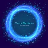 Abstrakter Weihnachtsblauhintergrund Stockfotos