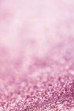 Abstrakter Weihnachtsfunkelnhintergrund mit rosa Lichtern festlich Lizenzfreies Stockbild